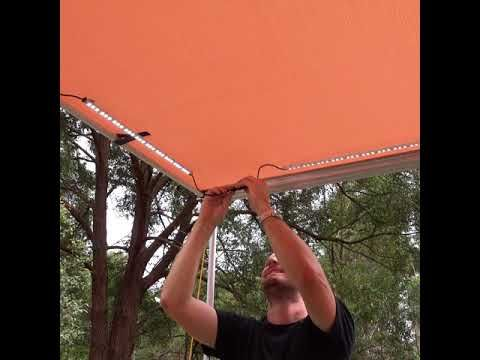 Mount camp lighting anywhere you want on awnings, gazebos and awning tents with this trick