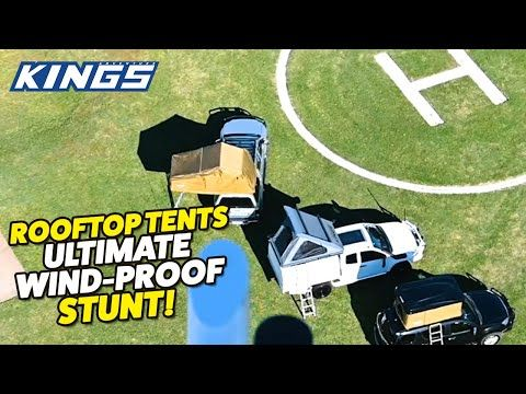 Helicopter VS Kings Rooftop Tents – More than 70km/h winds - who wins this EPIC contest!