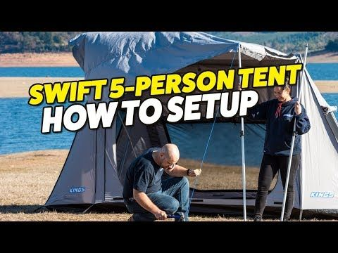 Adventure Kings Swift 5 Person Tent Setup