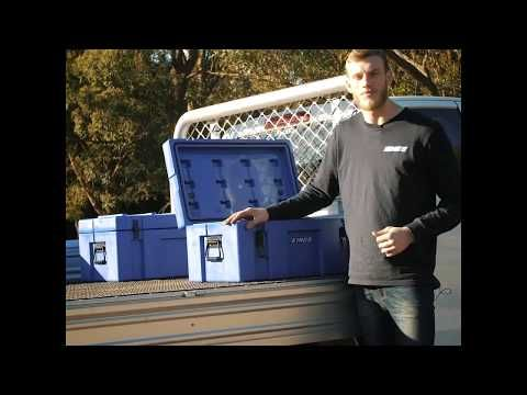The 78L Storage Box is perfect for tradies on the back of their ute!