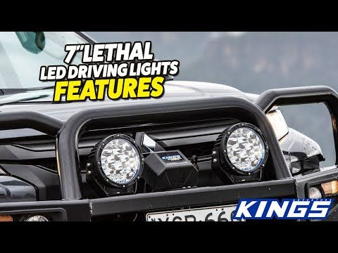 """Kings 7"""" Lethal Driving Lights Features"""