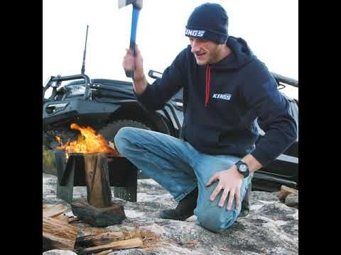 The Adventure Kings 3 Piece Axe, Saw and Knife Set Perfect Camping Companion Out Bush