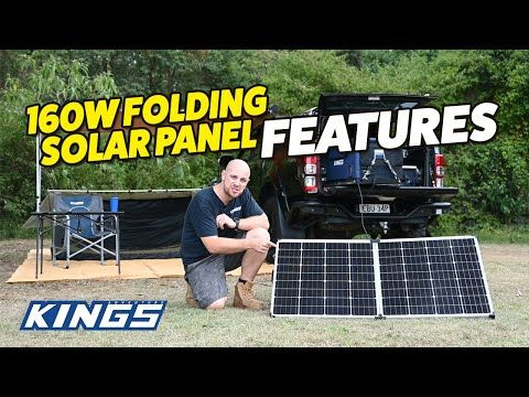 Adventure Kings 160W Folding Solar Panel Features