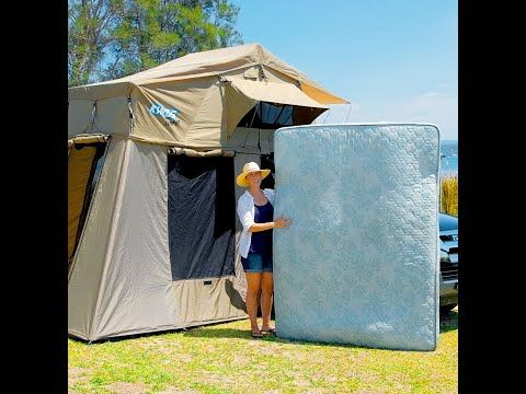 We fit a queen-size innerspring mattress INSIDE the Kings Tourer Rooftop Tent!