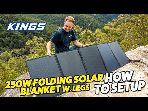 Adventure Kings 250W Folding Solar Blanket How To Setup