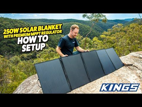 250W Solar Blanket with MPPT Regulator - How to set up