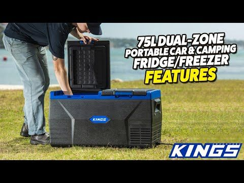 Adventure Kings 75L Dual-Zone Car & Camping Fridge/Freezer Features