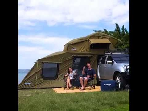 Adventure Kings 6 Man Roof Top Tent with Annex is the ultimate home away from home!