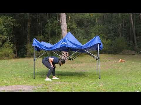 Kings 3x3m Gazebo set up guide / how to: EASY ONE PERSON SETUP!