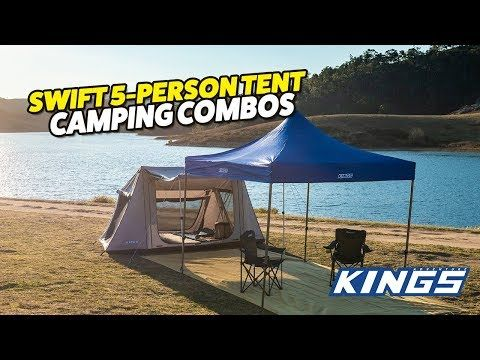 Adventure Kings Swift 5-person Tent Camping Combos!
