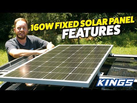 Adventure Kings 160W Fixed Solar Panel Features