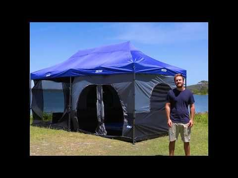 Adventure Kings 6x3m Camping Gazebo The Ultimate Basecamp!