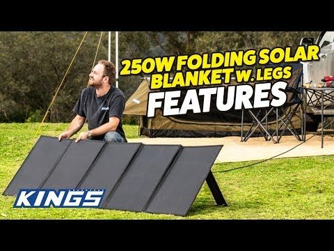 Adventure Kings 250W Folding Solar Blanket Features
