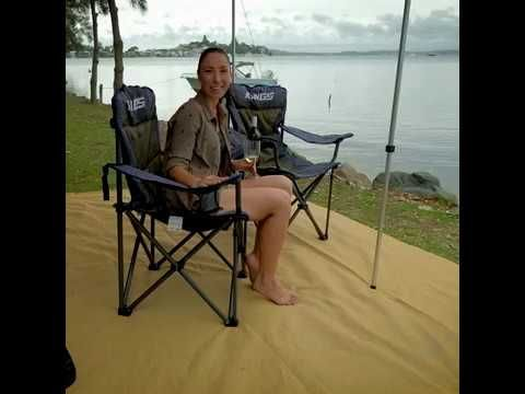 You won't believe how comfy these camp chairs are until you sit in them