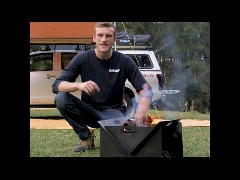 The Adventure Kings Portable Steel Fire Pit is a quick and easy way to have a camp fire anywhere!
