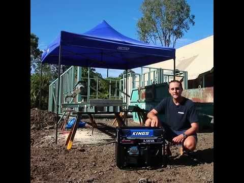 The Adventure Kings 3.5kva Peak Generator is perfect for running power on the job site!