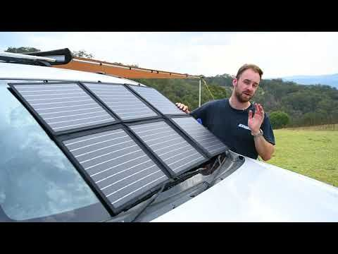 Adventure Kings 120W Solar Blanket How To Setup