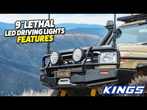 """Kings 9"""" Lethal Driving Lights Features"""