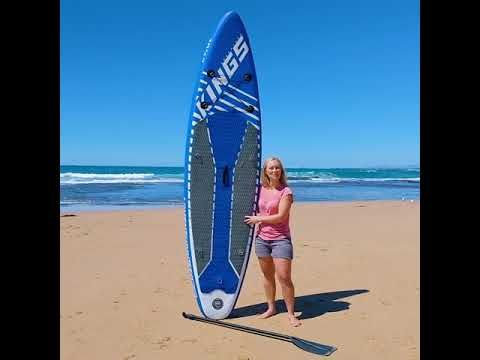 Inflates in seconds and can go everywhere – the Adventure Kings Inflatable Stand Up Paddle Board