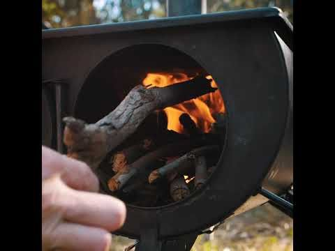 The Adventure Kings Camp Oven/Stove is the perfect smoke free cooking and heating solution!