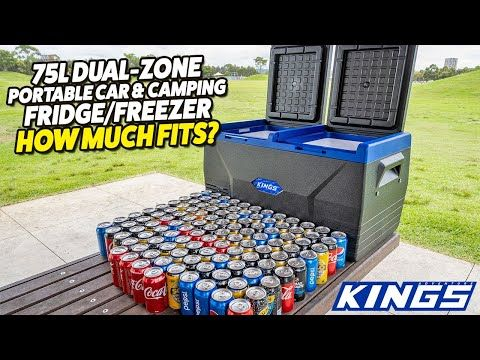 Adventure Kings 75L Dual-Zone Car & Camping Fridge/Freezer - How Much Fits?