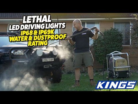 """Kings 9"""" Lethal Driving Lights - our first with IP68 & IP69K rating"""