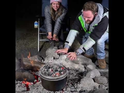 All you need is a can of beer, a chook and a Bedourie for a great tasting dinner - watch this video