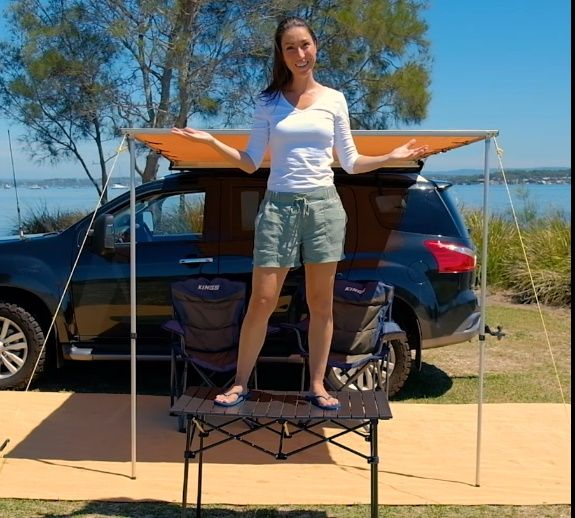 Super compact, Super Strong – The Adventure Kings Roll up Camping Table