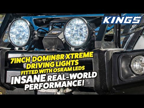 "Check out the real world performance of Kings 7"" Domin8r Xtreme Driving Lights fitted with OSRAM LEDs"