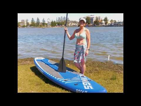 The Adventure Kings Inflatable Stand-Up Paddle Board is the best way to stay in shape while away!