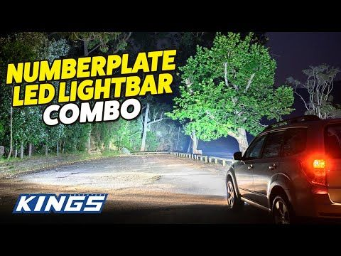 Adventure Kings Numberplate Lightbar Combo