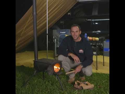 Adventure Kings Camp Oven Stove allows you to have a fire anywhere!