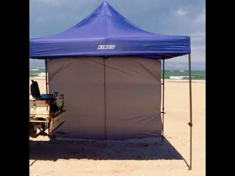 Don't let wind ruin your cooking plans with this gazebo wall
