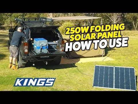 250W Portable Solar Panel How To Use!