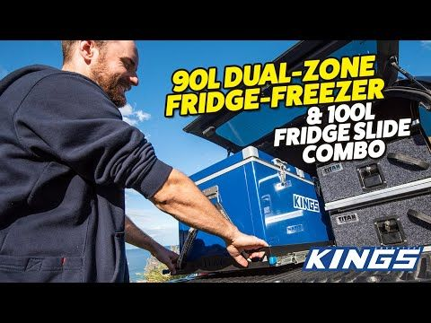 Adventure Kings 90L Dual Zone Fridge Freezer and 100L Fridge Slide Combo