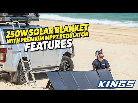 250W Folding Solar Blanket Kit with MPPT Features