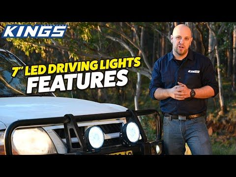 "Kings 7"" Driving Lights – Perfect Entry Level upgrade – 23% more lumens than 2019 models"