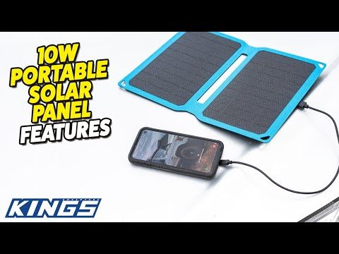 Adventure Kings 10W Portable Solar Panel Features