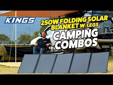 Adventure Kings 250W Folding Solar Blanket Camping Combos