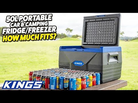 Adventure Kings 50L Portable Car & Camping Fridge/Freezer - How Much Fits?