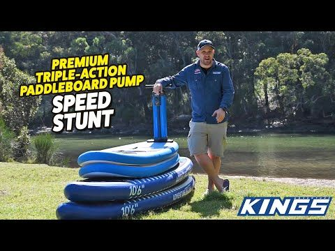 Adventure Kings Premium Triple Action Paddleboard Pump Speed Stunt