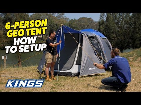How to Setup Adventure Kings 6 Person Geo Tent