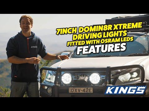 "Why you need a pair of UPGRADED 7"" Domin8r Xtreme Driving Lights fitted with OSRAM LEDs from Kings"