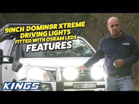 "REVEALED: Reasons you NEED to UPGRADE your Driving Lights to a set of 9"" Domin8r Xtreme's from Kings"