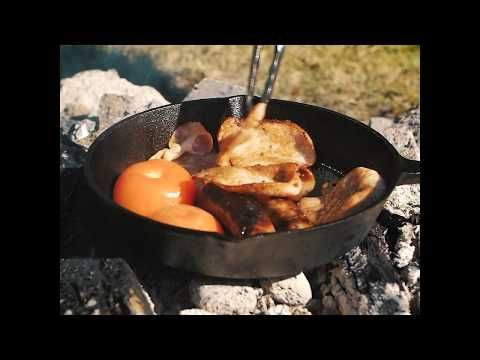 Cooking on cast iron is the way to go out camp, the Kings Skillet Pan is a great option!