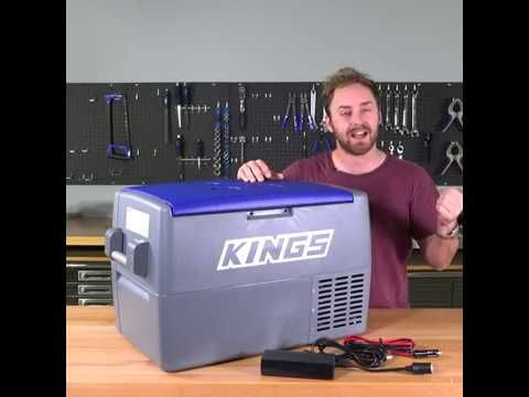 The Adventure Kings 45L Fridge can kit up to 67 cans!