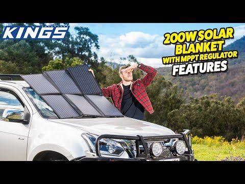 Adventure Kings 200W Solar Blanket with MPPT Regulator Features