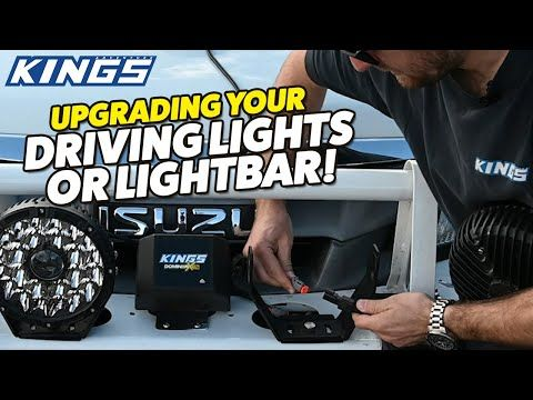 5 minute LED Driving Light upgrade - You won't believe how easy it is with Kings!