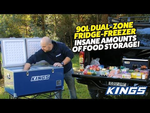 Adventure Kings 90L Dual Zone Fridge Freezer Insane Amounts of Food Storage