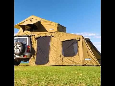 The 6 man Annex is a must have addition to the Roof Top Tent from Adventure Kings!